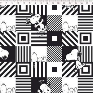 Tecido 100% Algodão Snoopy 1,48m x 50cm - Fernando Maluhy