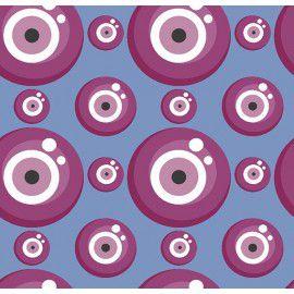 Tecido 100% Algodão Olho Grego Azul 1,40m x 50cm - Caldeira