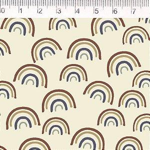 Tecido 100% Algodão Arco Iris Amarelo Pequeno 1,48m x 50cm - Fernando Maluhy