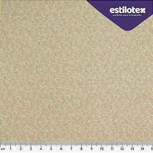Tecido de Algodão Floral Chic Areia 1,40 m x 50 cm Estilotex