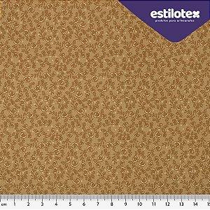 Tecido de Algodão Floral Chic Bege 1,40 m x 50 cm Estilotex