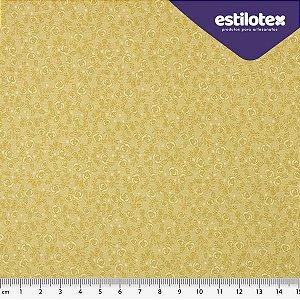 Tecido de Algodão Floral Chic Marfim 1,40 m x 50 cm Estilotex