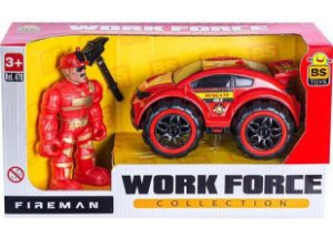 Carro Work Force Fireman com Boneco 470 Bs Toys