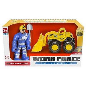 Carro Work Force Construtor com Boneco 468 Bs Toys