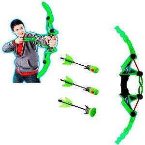 Arco e Flecha Infantil com Dardos Espuma + Ventosa DMT5910 Dm Toys