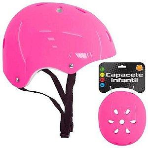 Capacete de Proteção Infantil Rosa DMR5953 Dm Toys