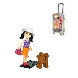 Boneca Maletinha Mini Doll DMT5889 Dm Toys