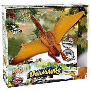 Dinossauro Pterodátilo com Som e Luz DMT5932 Dm Toys