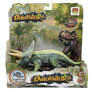 Dinossauro Triceratops com Som e Luz DMT5934 Dm Toys