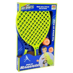 Jogo de Raquetes 2 Bolas DMT5917 Dm Toys