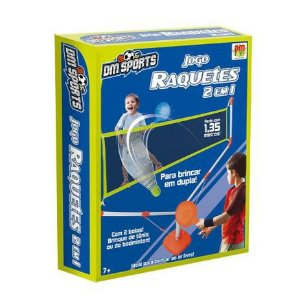 Jogo de Raquetes com Rede DMT6146 Dm Toys