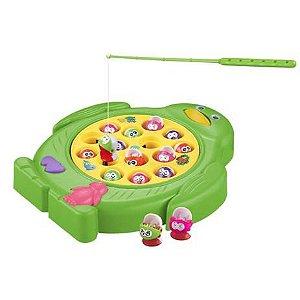 Jogo Pescaria Divertida Com 15 Peixinhos E Som DMT6017 Dm Toys