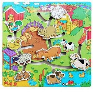 Aprenda Brincando Animais da Fazenda DMT6169 Dm Toys