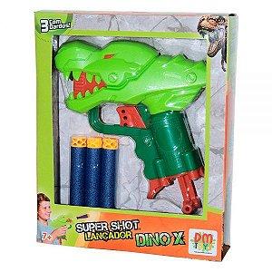 Lançador Super Shot Dino x DMT6137 Dm Toys