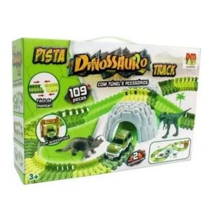 Pista Dinossauro Track com Túnel e Acessórios DMT6130 Dm Toys