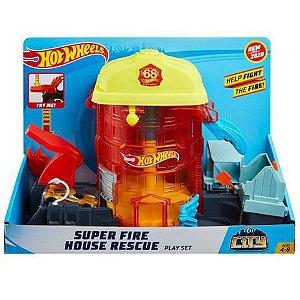 Hot Wheels Estação Bombeiro GJL06 Mattel