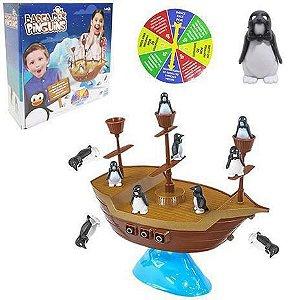 Jogo Barca dos Pinguins com Roleta BP1927 Unik Toys