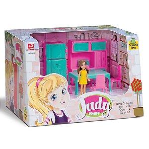 Judy Home com Boneca Cozinha 405 Samba Toys