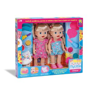 Boneca My Little Collection Gêmeas 8104 Divertoys