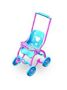 Carrinho de Boneca Baby Car Princess BCP130 Brinquemix
