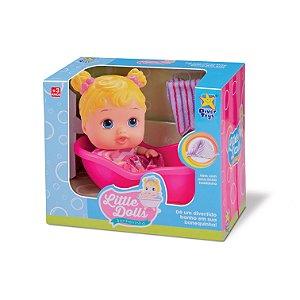 Boneca Little Dolls Banheirinha 8022 - Divertoys