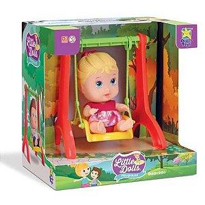 Boneca Little Dolls Balancinho Menina 8099 - Divertoys