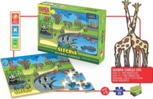 Quebra Cabeça Zoo Alegria 123 IOB
