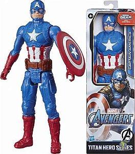 Boneco Capitão América Avengers 30cm E7877 Hasbro