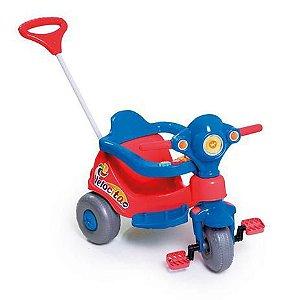 Triciclo Velocita Vermelho e Azul 958 Calesita