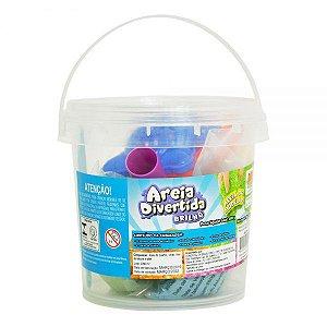Areia Divertida Brilho Balde DMT5537 DM Toys