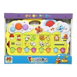 Teclado Animais Trenzinho DMT4744 DM Toys
