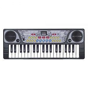 Teclado com Microfone Pequeno DMT5702 DM Toys