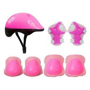 Kit Proteção infantil Rosa DMR5487 DM Toys