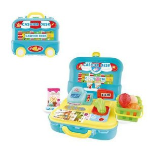 Maleta Caixa Registradora 3 em 1 DMT5587 DM Toys