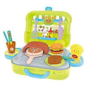 Maleta Pizzaria 3 em 1 DMT5585 DM Toys