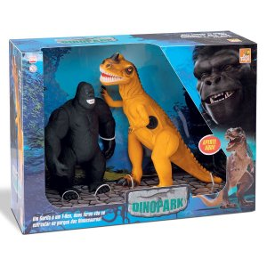 Dinossauro T-rex VS King 653 Bee Toys