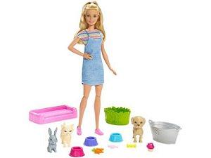 Barbie Banho Cachorrinhos FXH11 Mattel