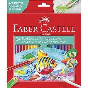 Lápis de Cor Faber Castell Aquarelável 24 cores