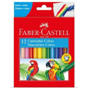 Caneta Hidrocor Faber Castell 12 cores