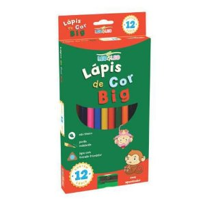 Lápis cor Leo & Leo Jumbo Triangular 12 cores