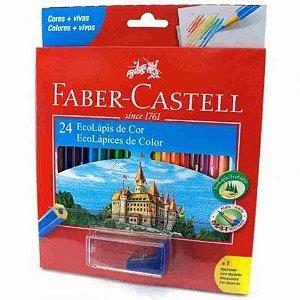 Lápis de Cor LV Faber Castell 24 cores + Apontador