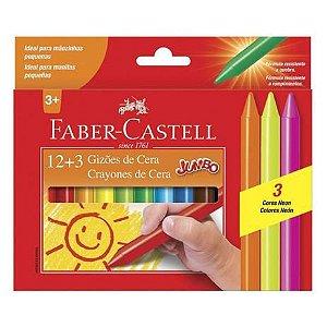Giz de Cera Jumbo Faber Castell 15 cores
