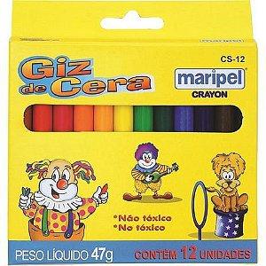 Giz de Cera Maripel 12 cores