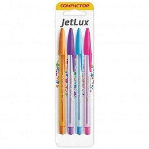 Caneta Compactor Jet Lux kit com 4 canetas