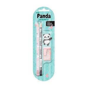 Kit Escolar 4 peças Panda leo e Leo