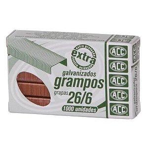 Grampo de Grampeador ACC 26/6 com 1.000 unidades