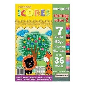 Bloco Eco Cores Textura Visual 2 36 folhas Novaprint