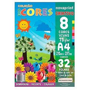 Bloco Eco Cores Criativo A4 32 folhas Novaprint
