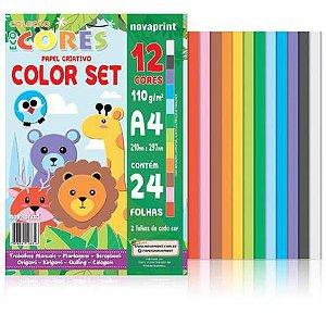 Bloco Eco Cores Color Set A4 24 folhas Novaprint