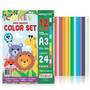 Bloco Eco Cores Color Set A3 24 folhas Novaprint